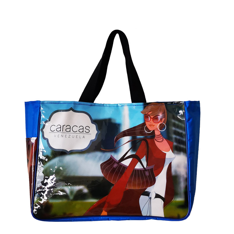 Chic Beach Bag with Eyecatching Full Color Imprint