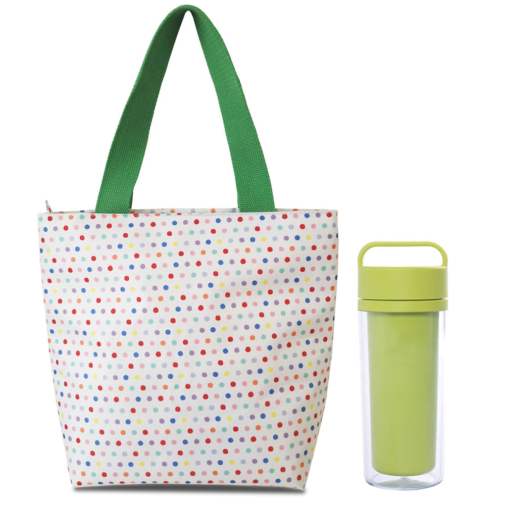 Full printing insulated lunch tote bag