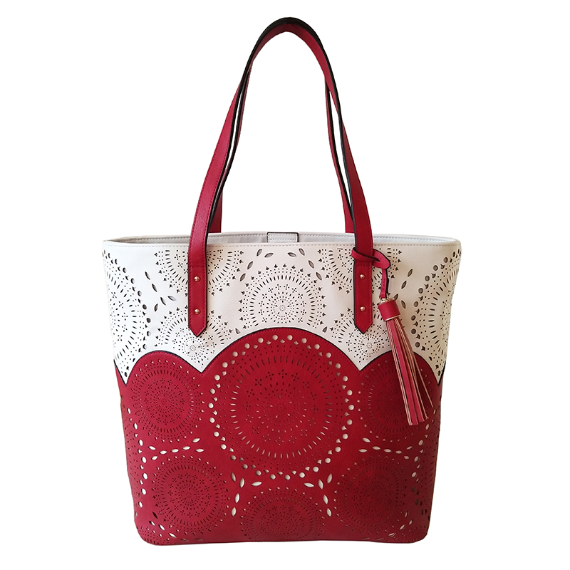 High quality Perforated PU tote bag