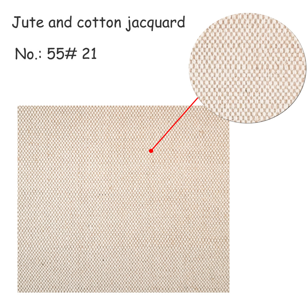 Jute and cotton jacquard