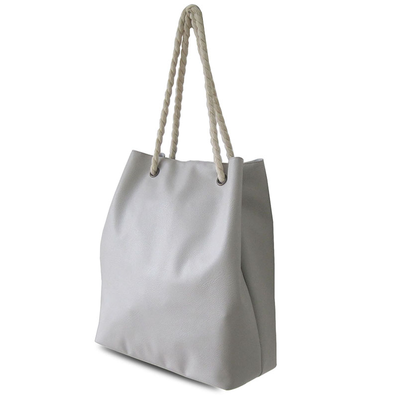 Lady tote bag with cotton rope handles
