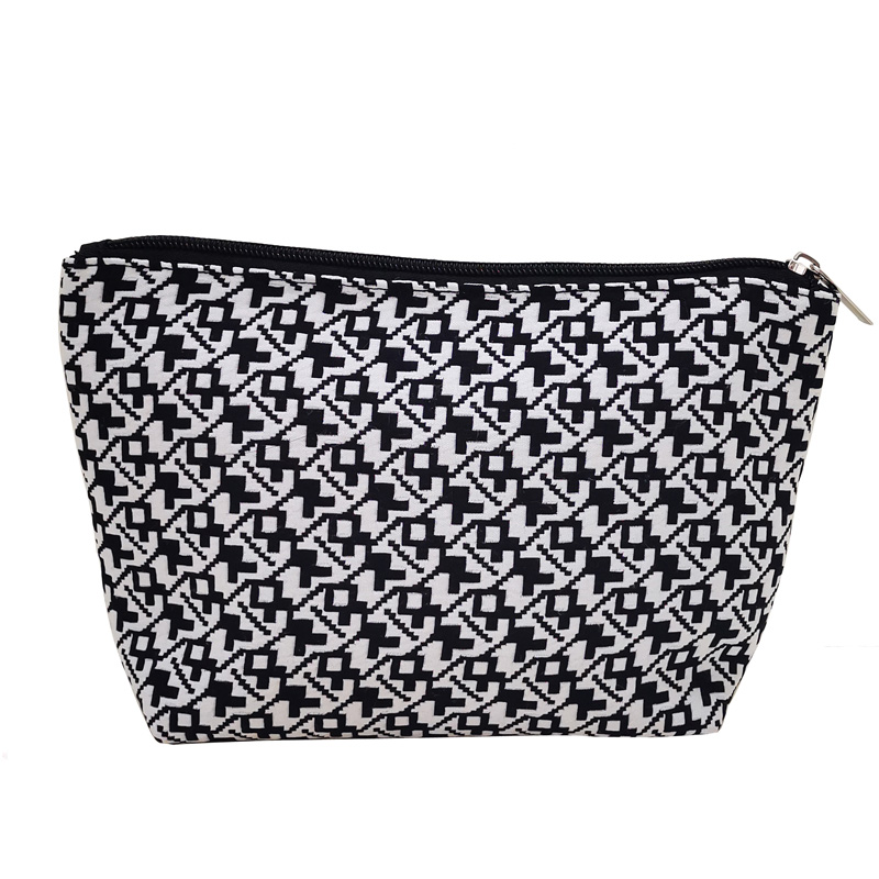 Woven Fabric Zippered Pouch