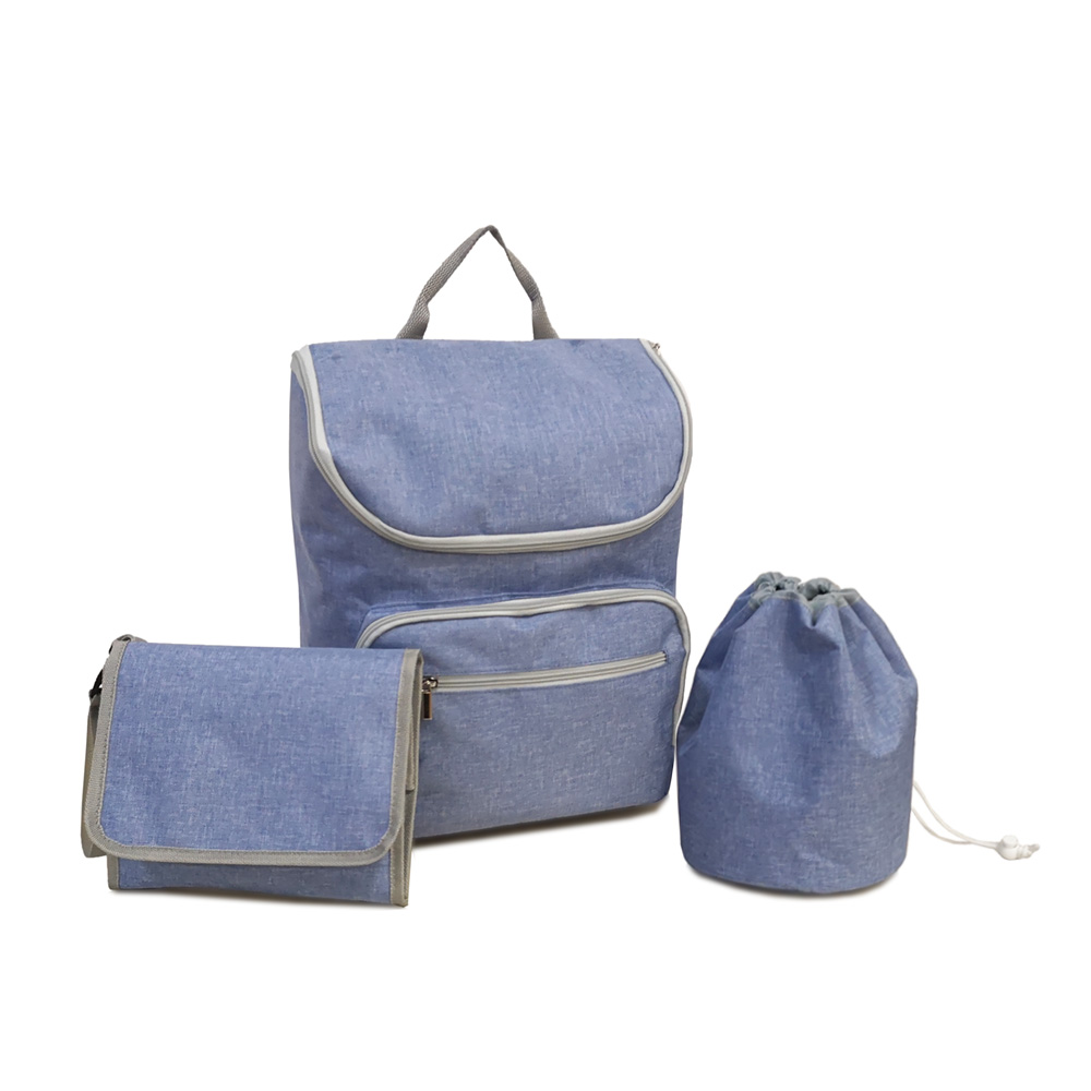 polyester mummy diaper bag set