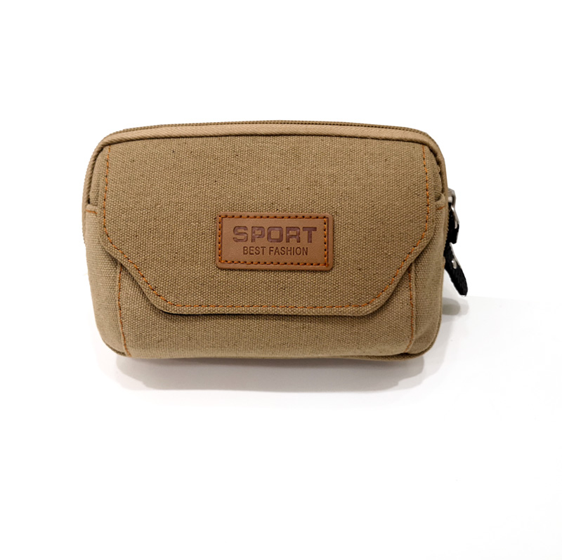 Canvas travel phone electronic bag