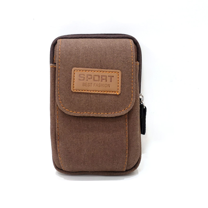 Canvas travel wallet phone electronic bag