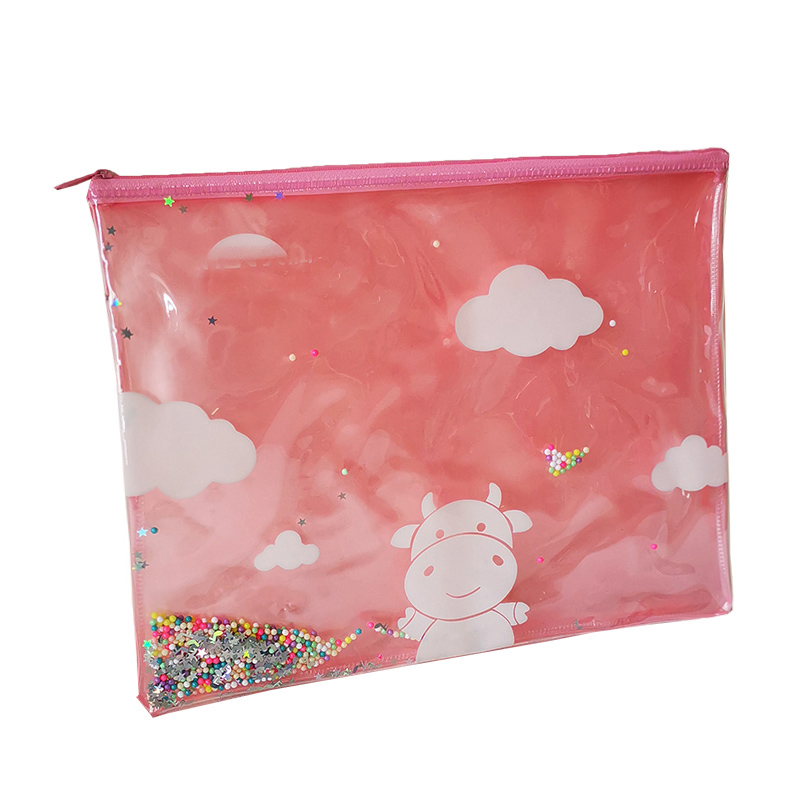 New design girls document bag with water injection