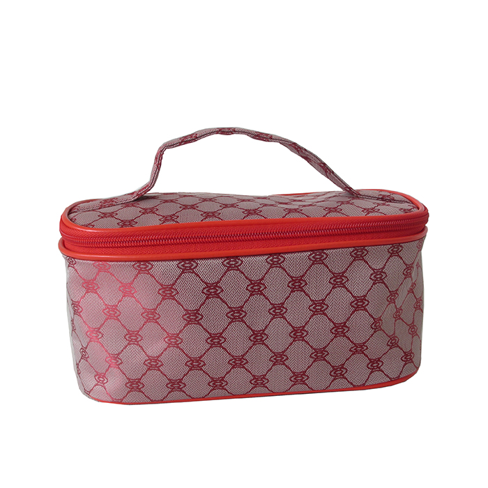 women jacquard toiletry bag