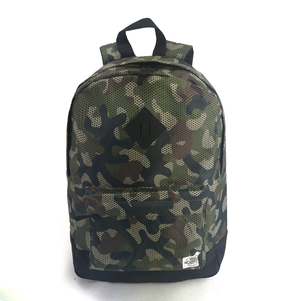 camouflage student school backpack